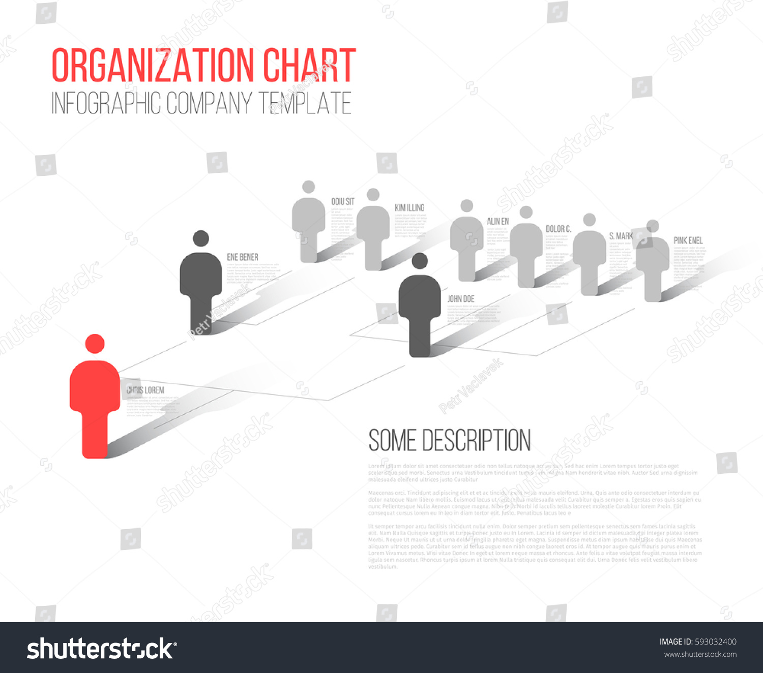 Pics photos company hierarchy template - Minimalist Company Organization Hierarchy 3d Chart Template