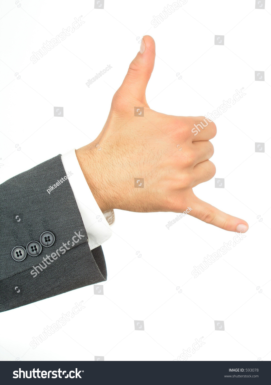 Call Me Gesture Stock Photo 593078 : Shutterstock