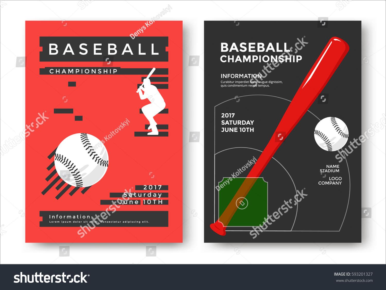 baseball championship modern sport posters design stock vector