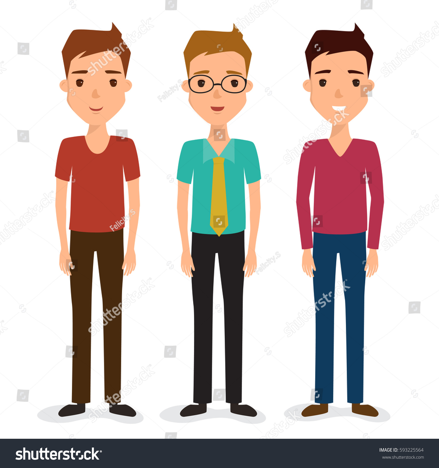 Character Design Careers : Business man character job avatar people stock vector