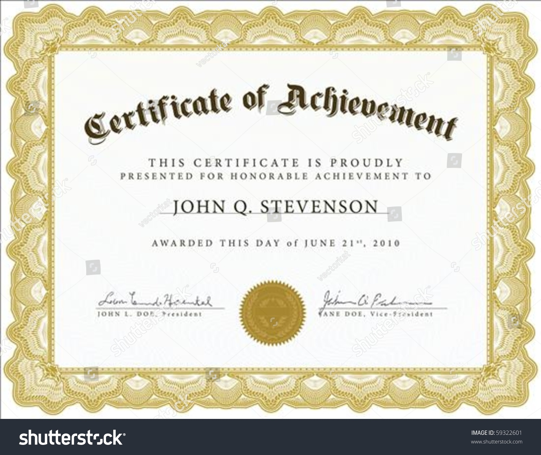 vector certificate easy edit change colors stock vector 59322601