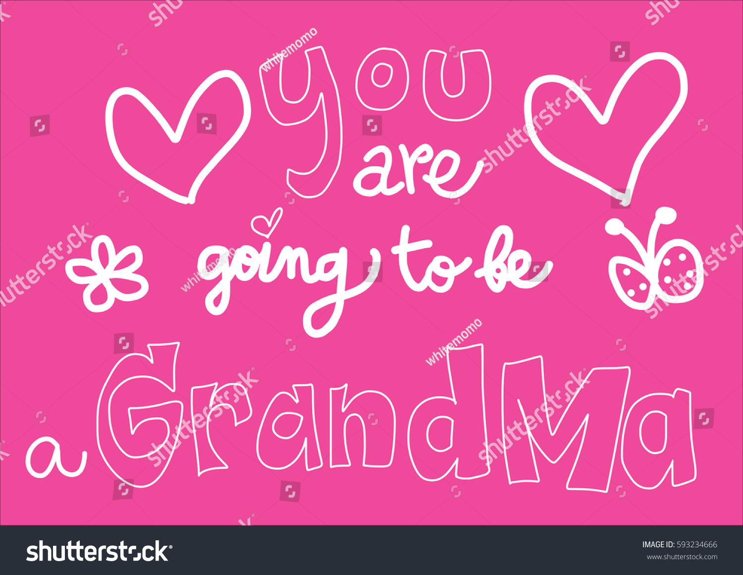 You Going Be Grandma Hand Lettering Stock Vector Royalty Free