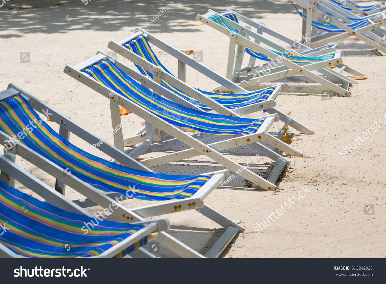 Beach Chairs White Sand Beach Stock Shutterstock
