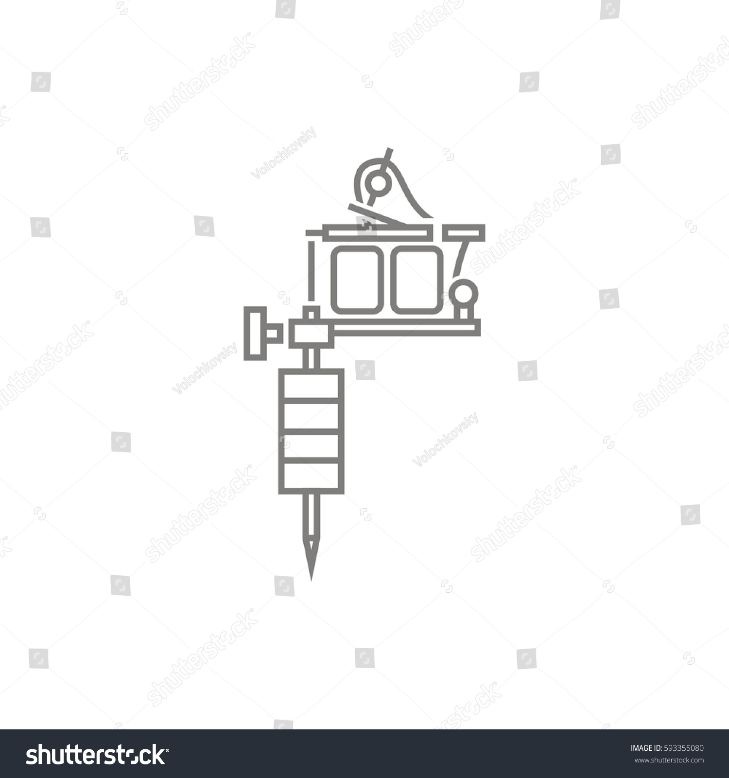 Tattoo Machine Vector Icon Stock Royalty Free 593355080 Tattoomachinediagramjpg