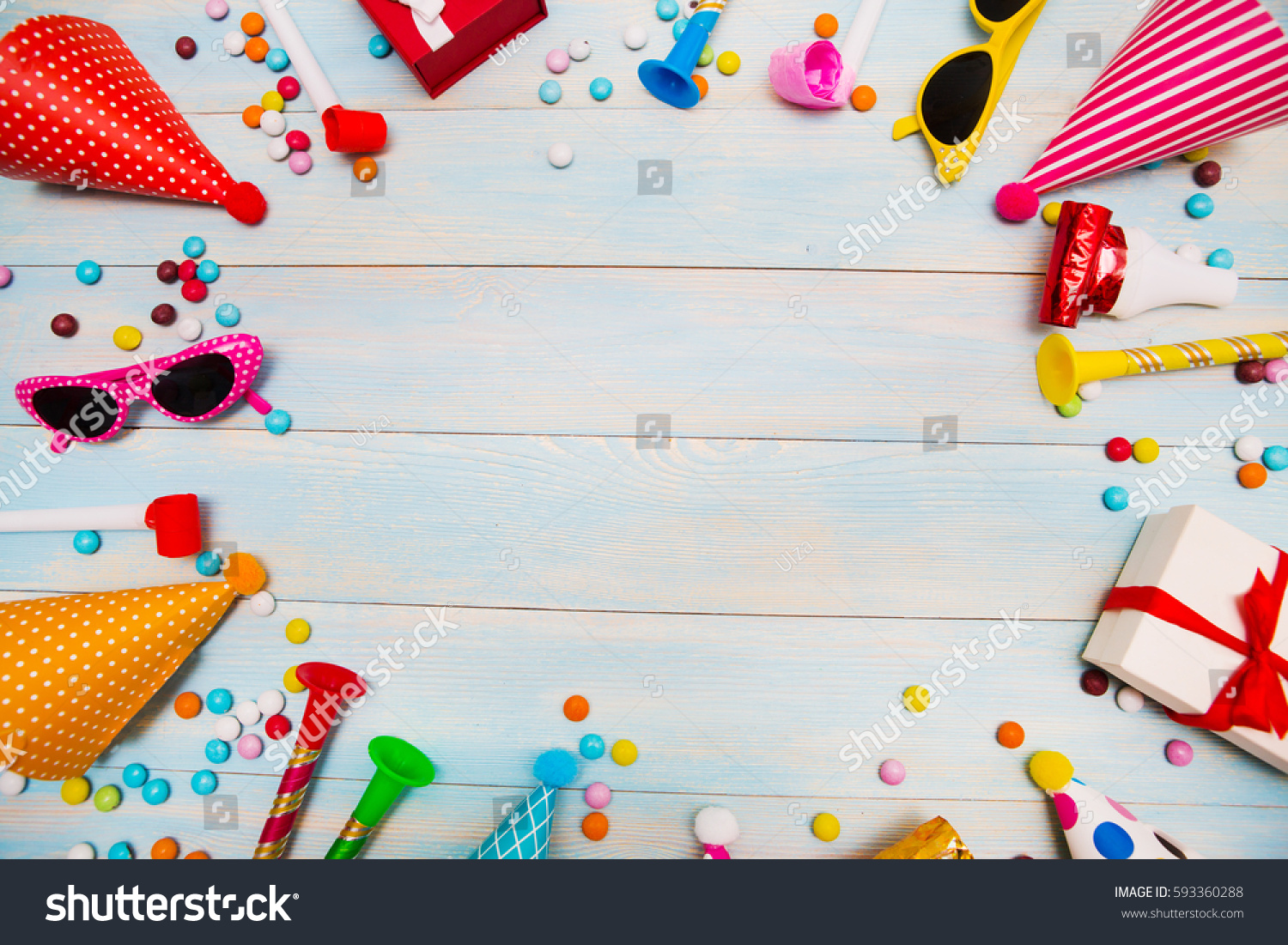 Children Party Background Birthday Background Colorful Stock Photo