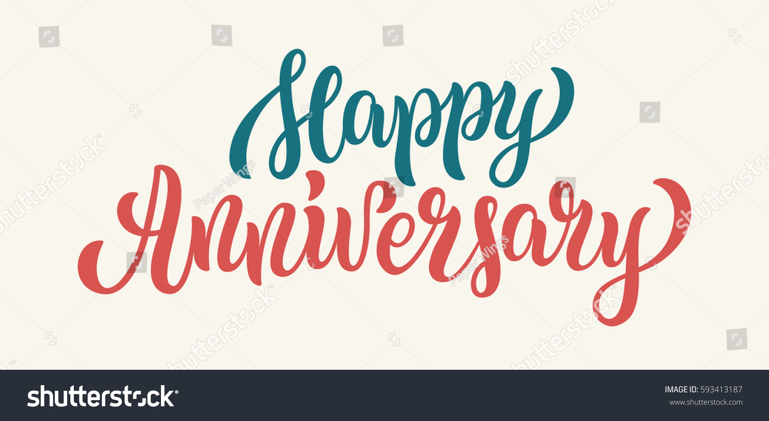 happy anniversary lettering text banner vector stock vector royalty