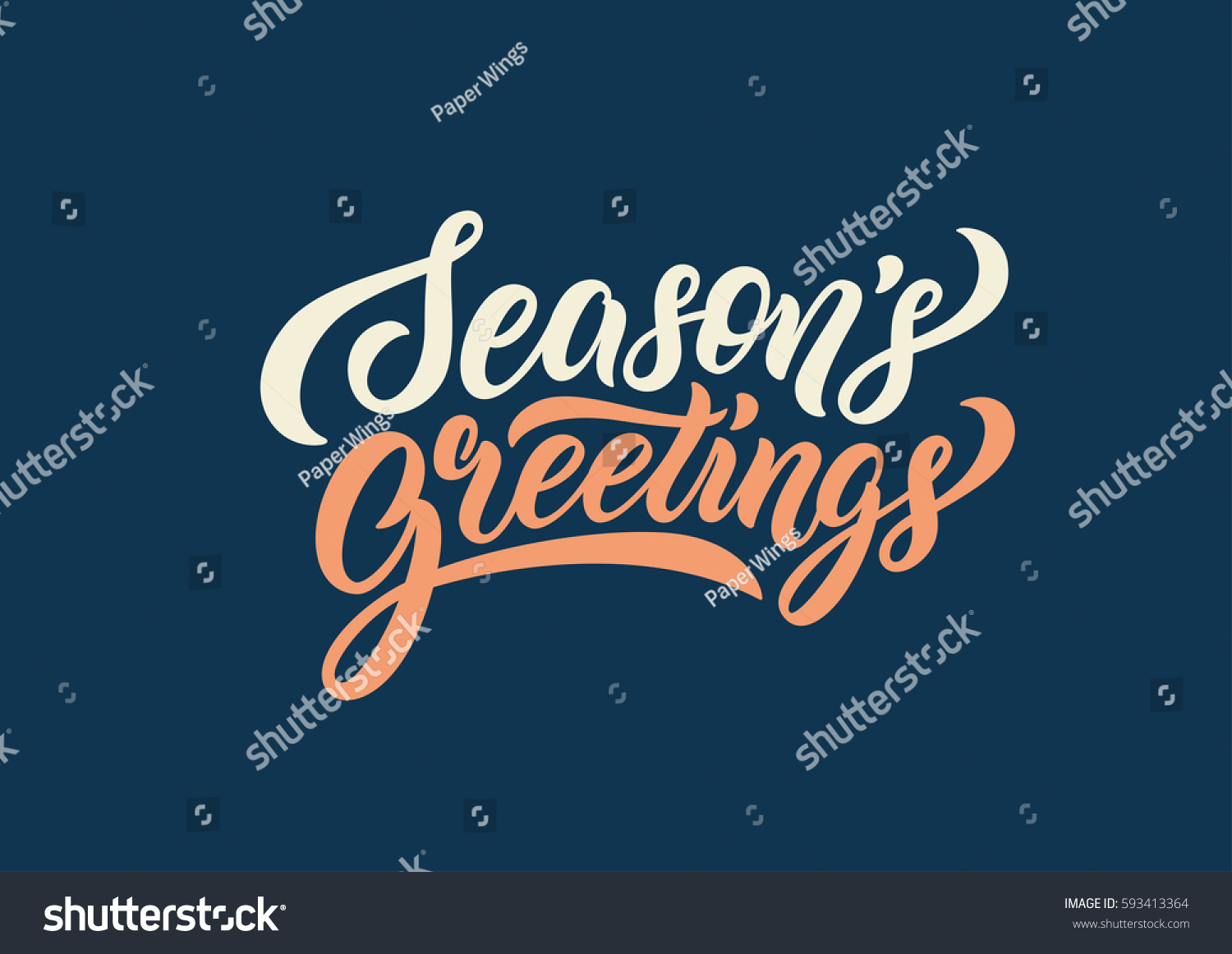 Season Greetings Lettering Text Banner Vector Stock Vector Royalty