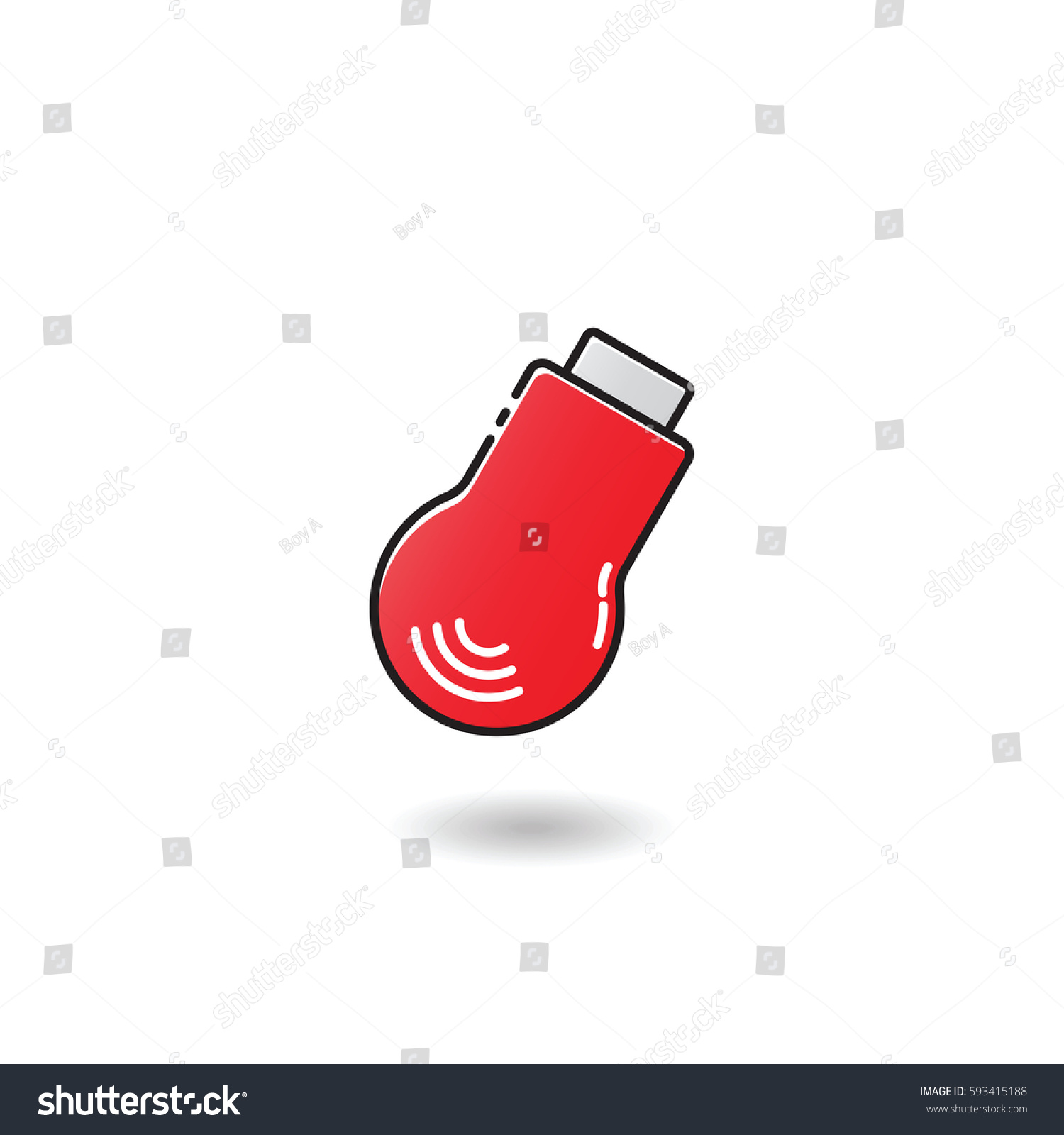 Outline Flash Tv Stick Icon Stock Vector Royalty Free 593415188