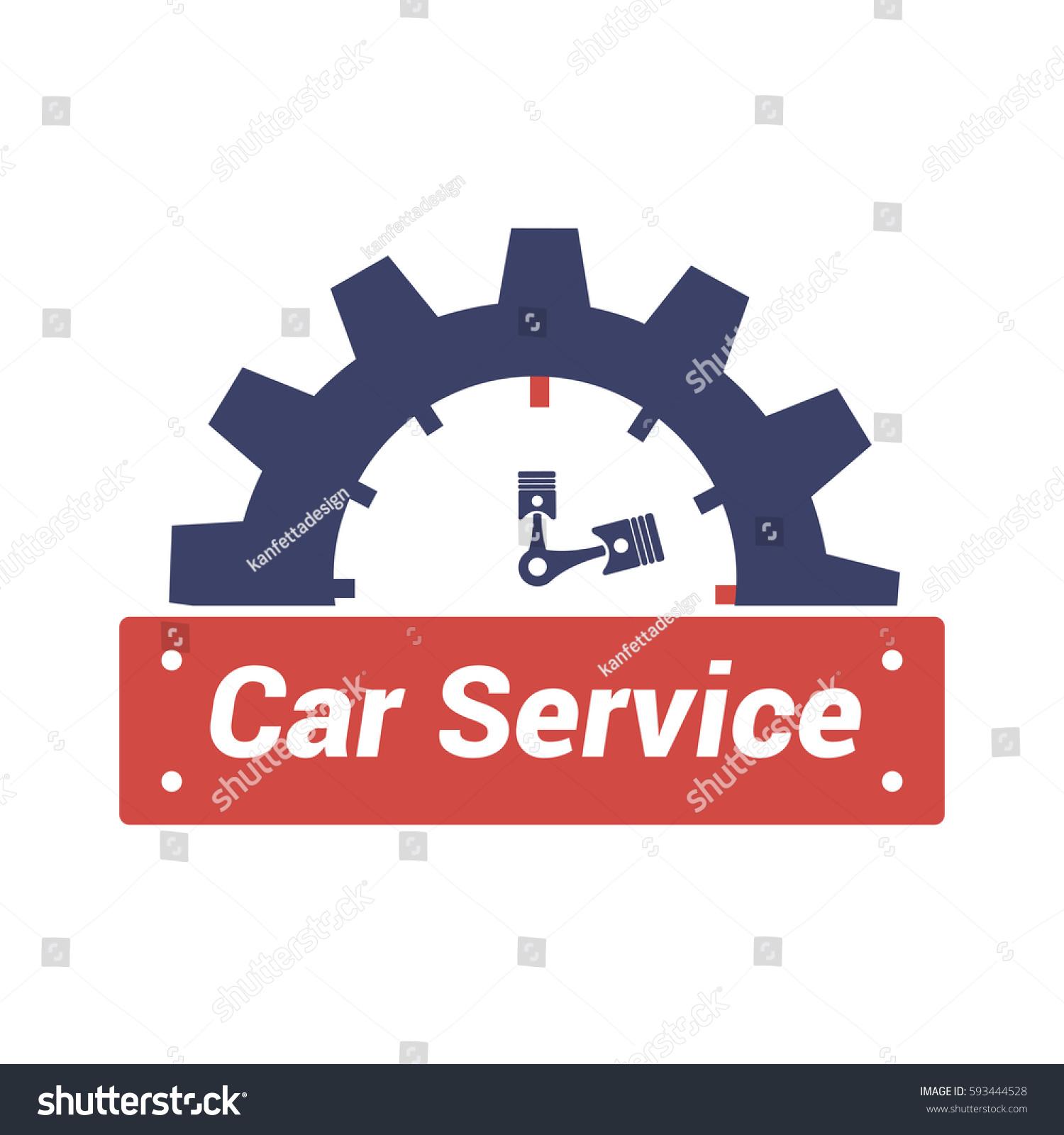 Vector Logo Design Template Car Service Stock Vector 593444528 ...