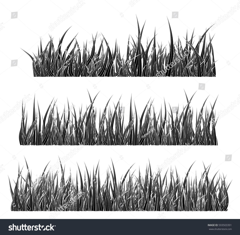 Grass Silhouette Vector Symbol Icon Design Stock Photo (Photo ...