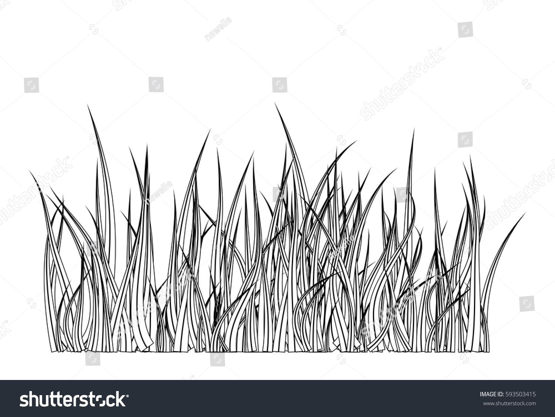 Grass Silhouette Vector Symbol Icon Design Stock Vector 593503415 ...