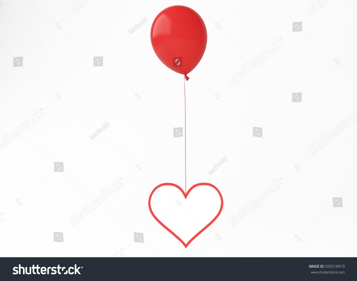 3 d ballon heart empty stock illustration 593518919 shutterstock 3d ballon with heart empty ccuart Choice Image