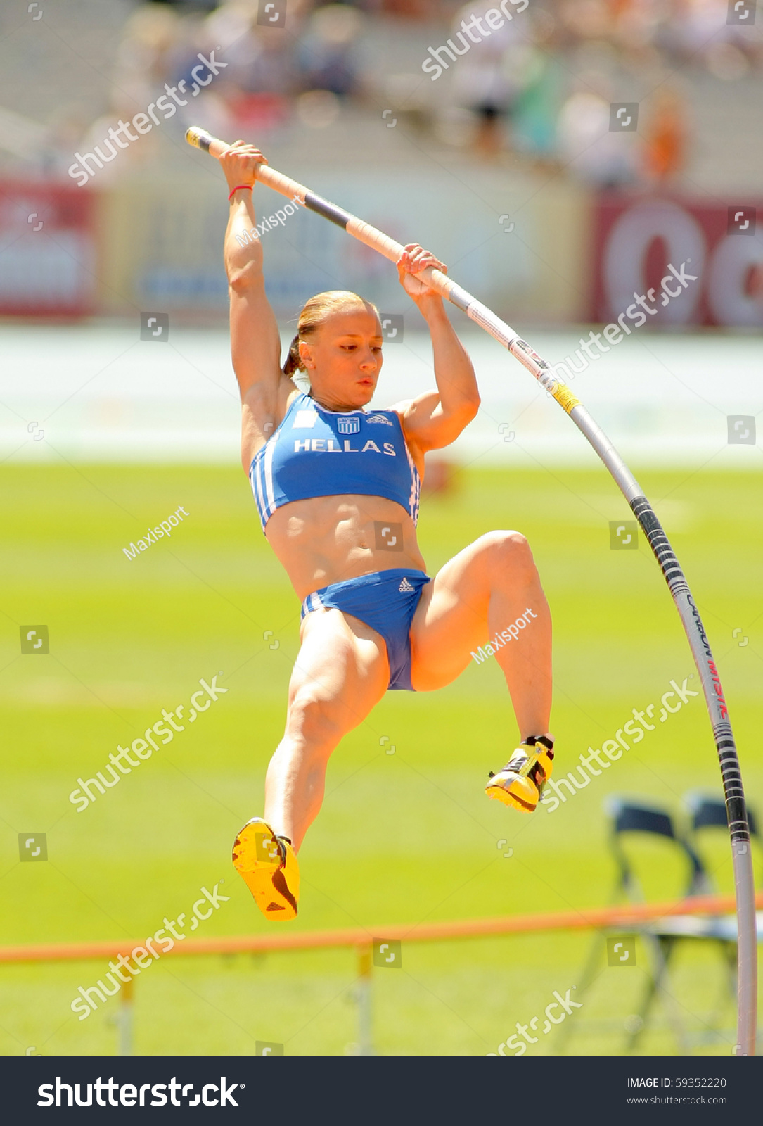 Barcelona spain july 28 nikoleta kiriakopoulou of greece during women pole vault of the 20th - Forlady barcelona ...