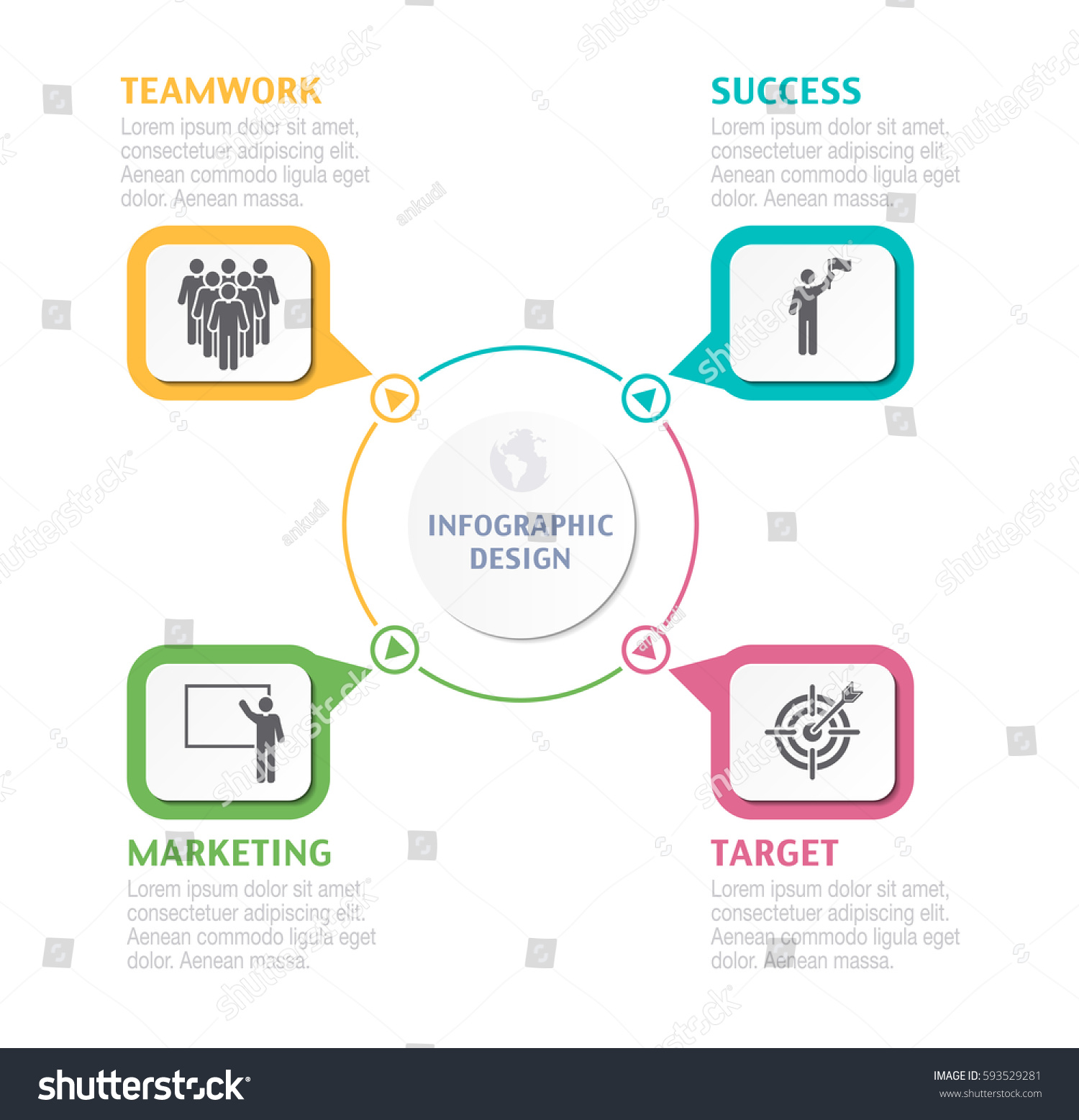 Abstract infographic number options business overview stock vector abstract infographic number options business overview visualization business template for presentation vector infographics wajeb Images