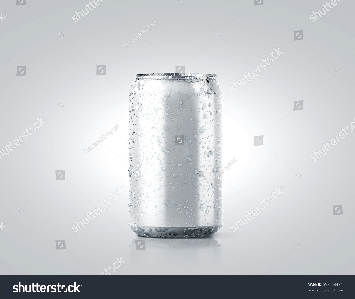 Blank Small Cold Aluminium Beer Can Ilustración de stock593558474 ...