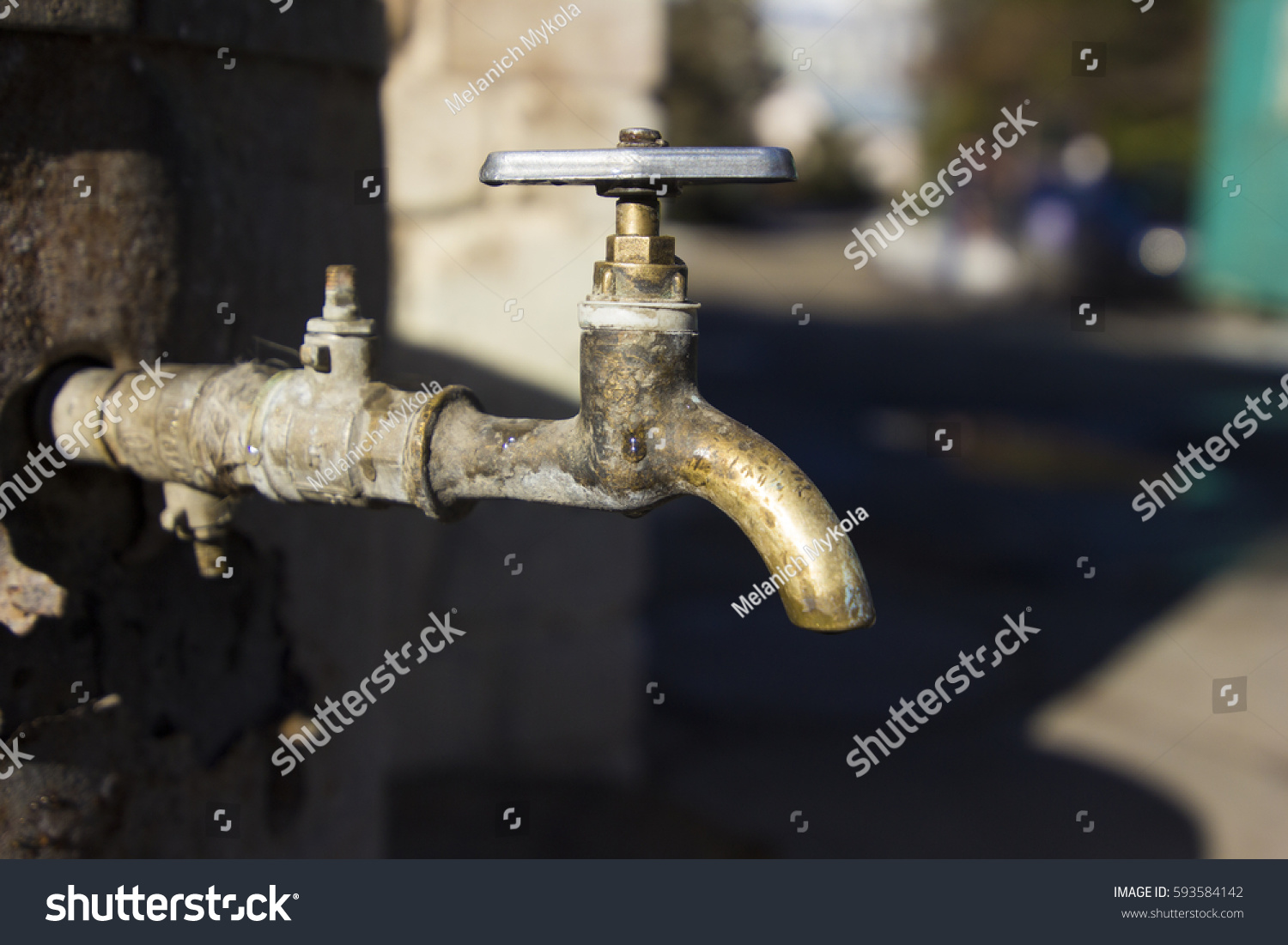 Yellow Water Faucet Stock Photo 593584142 - Shutterstock