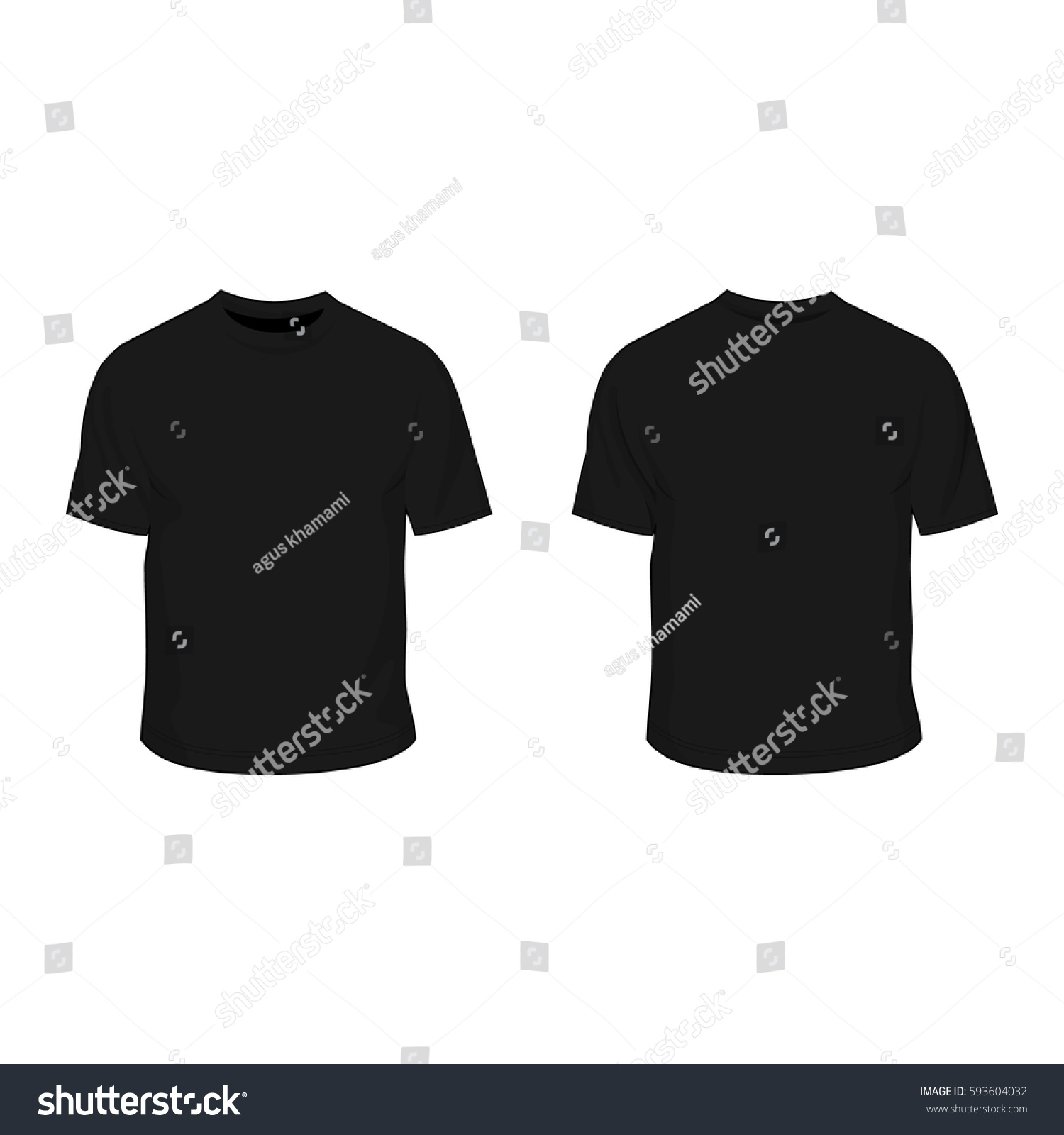 t shirt template black stock vector royalty free 593604032