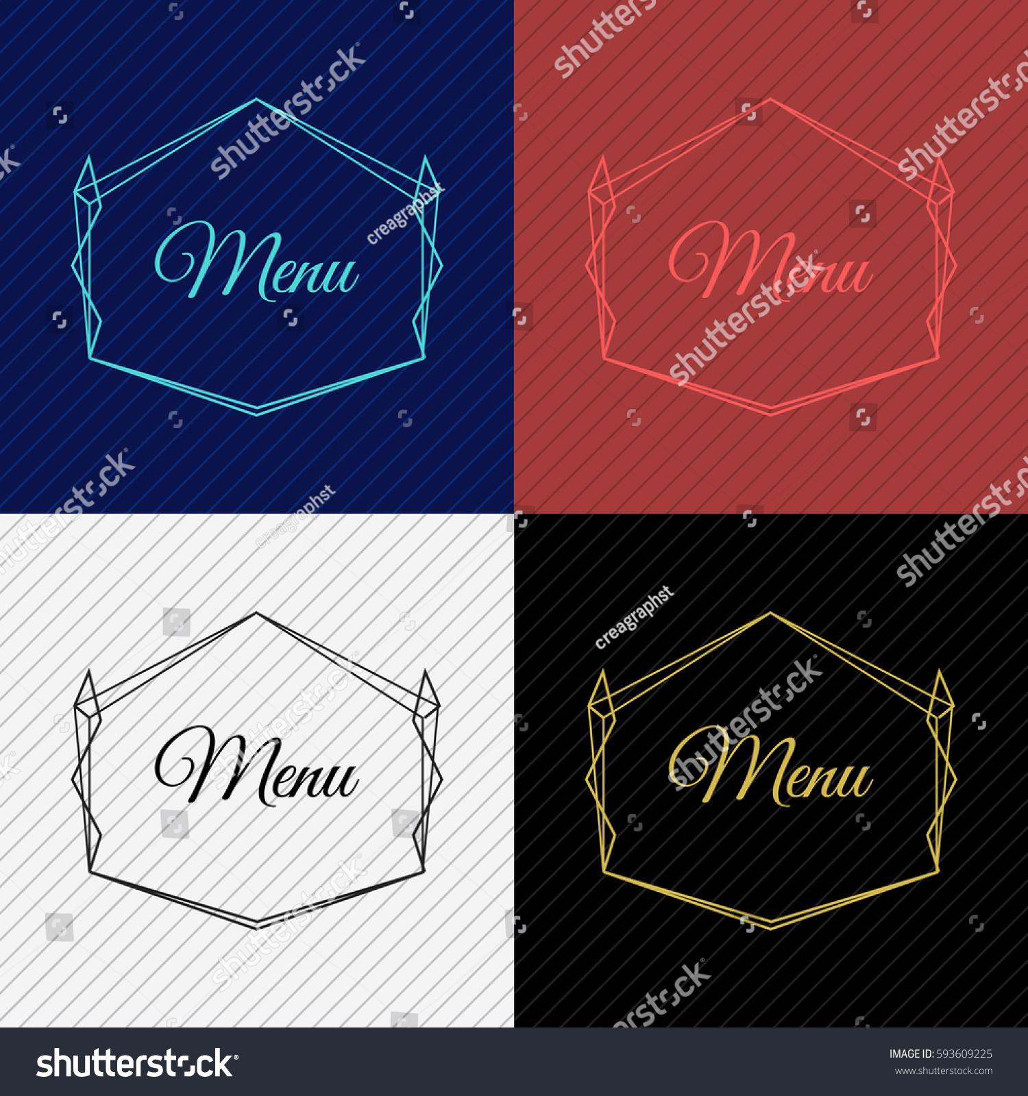 Vintage Vector Monogram Elegant Emblem Logo Stock Vector (Royalty ...