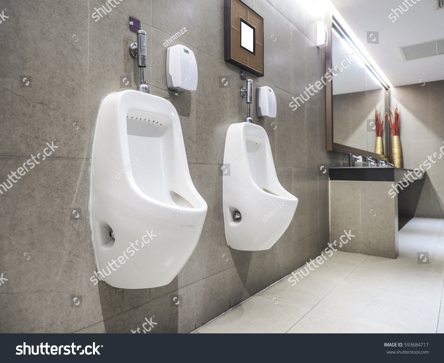 Row Outdoor Urinals Men Public Toilet Closeup Stock Photo (Edit Now ...