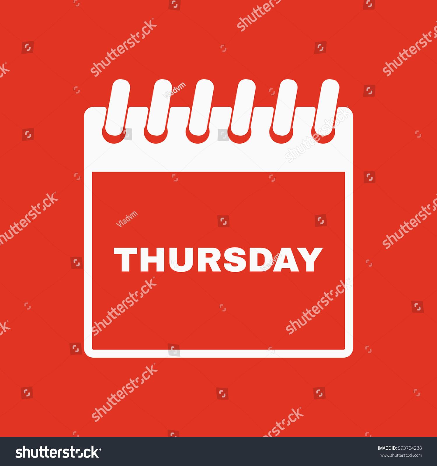 Thursday icon thu calendar data symbol stock vector 593704238 thu and calendar data symbol flat design stock vector biocorpaavc