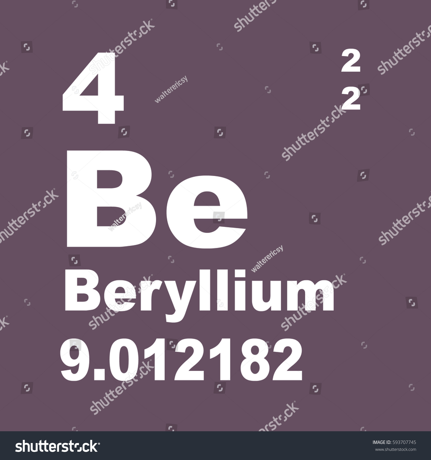 Beryllium periodic table elements stock illustration 593707745 beryllium periodic table of elements gamestrikefo Image collections