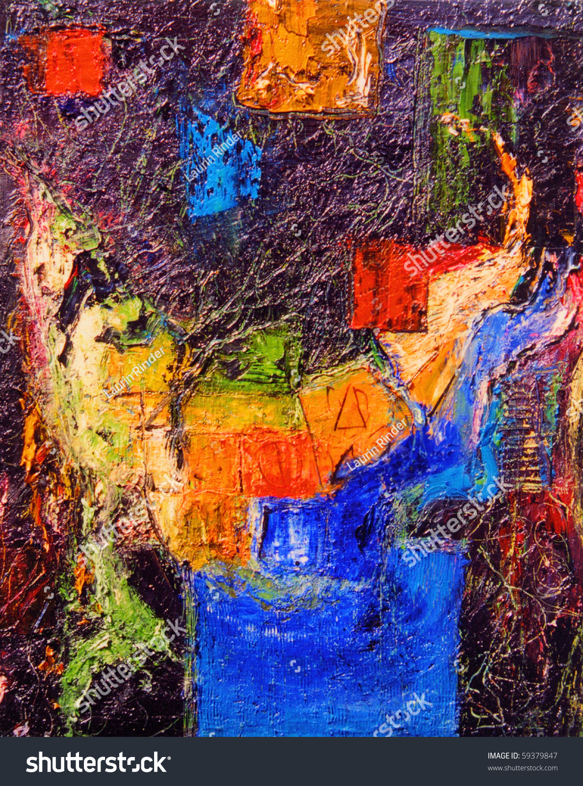 Beautiful Original Abstract Oil Painting On Stock Photo 59379847 - Shutterstock