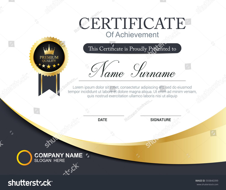vector certificate template stock vector 593840399 vector certificate border vector certificate design