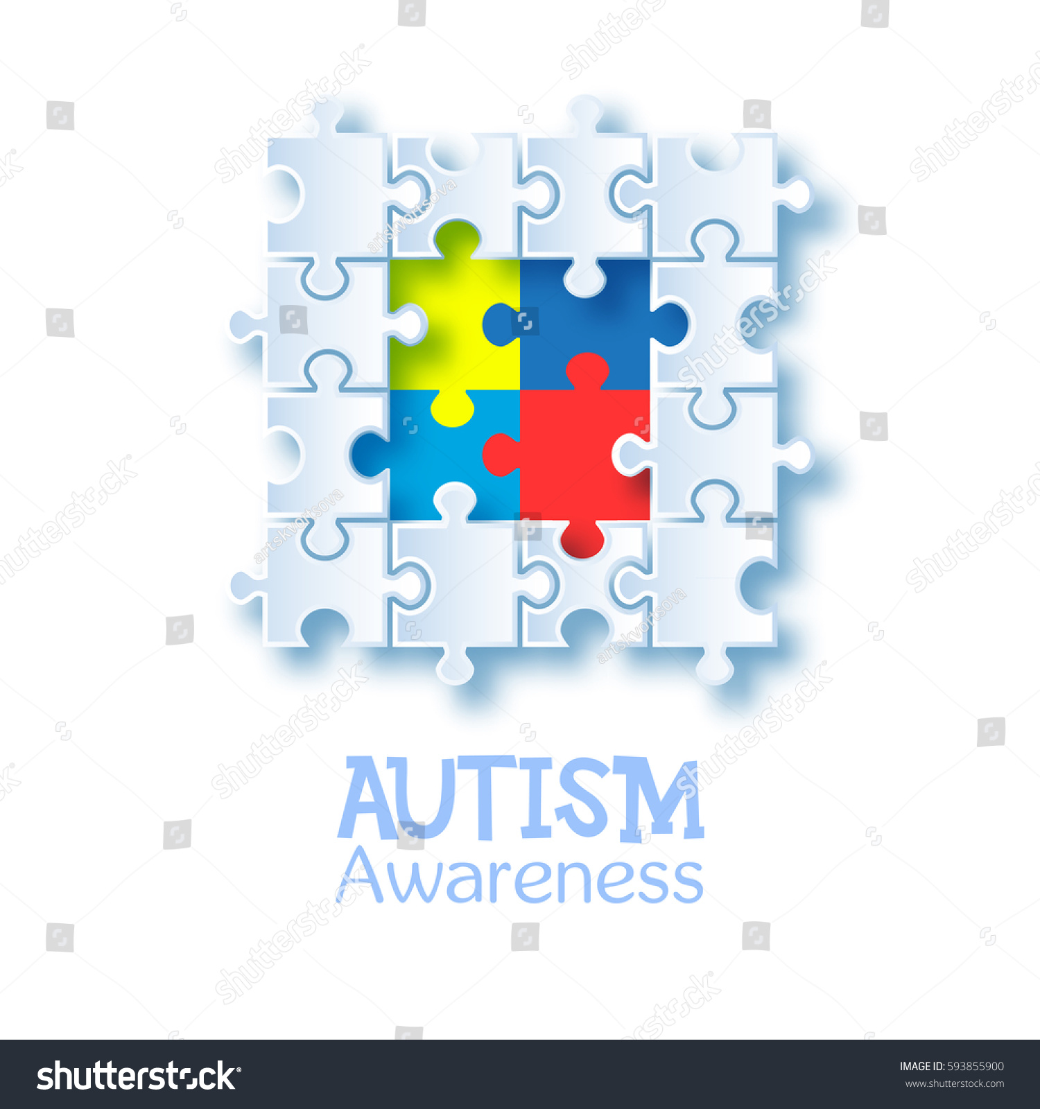 World autism awareness day colorful puzzle stock vector 593855900 world autism awareness day colorful puzzle vector design sign symbol of autism medical biocorpaavc