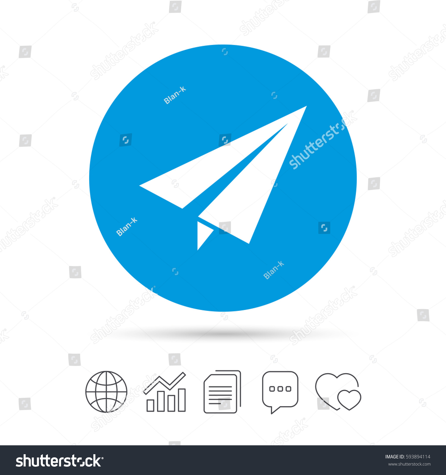 Paper Plane Icon Isolated On White Background Sign Ez Canvas