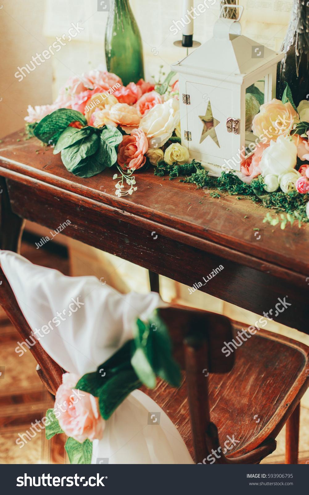 Beautiful unusual wedding decor photo zone stock photo for Decoration zone