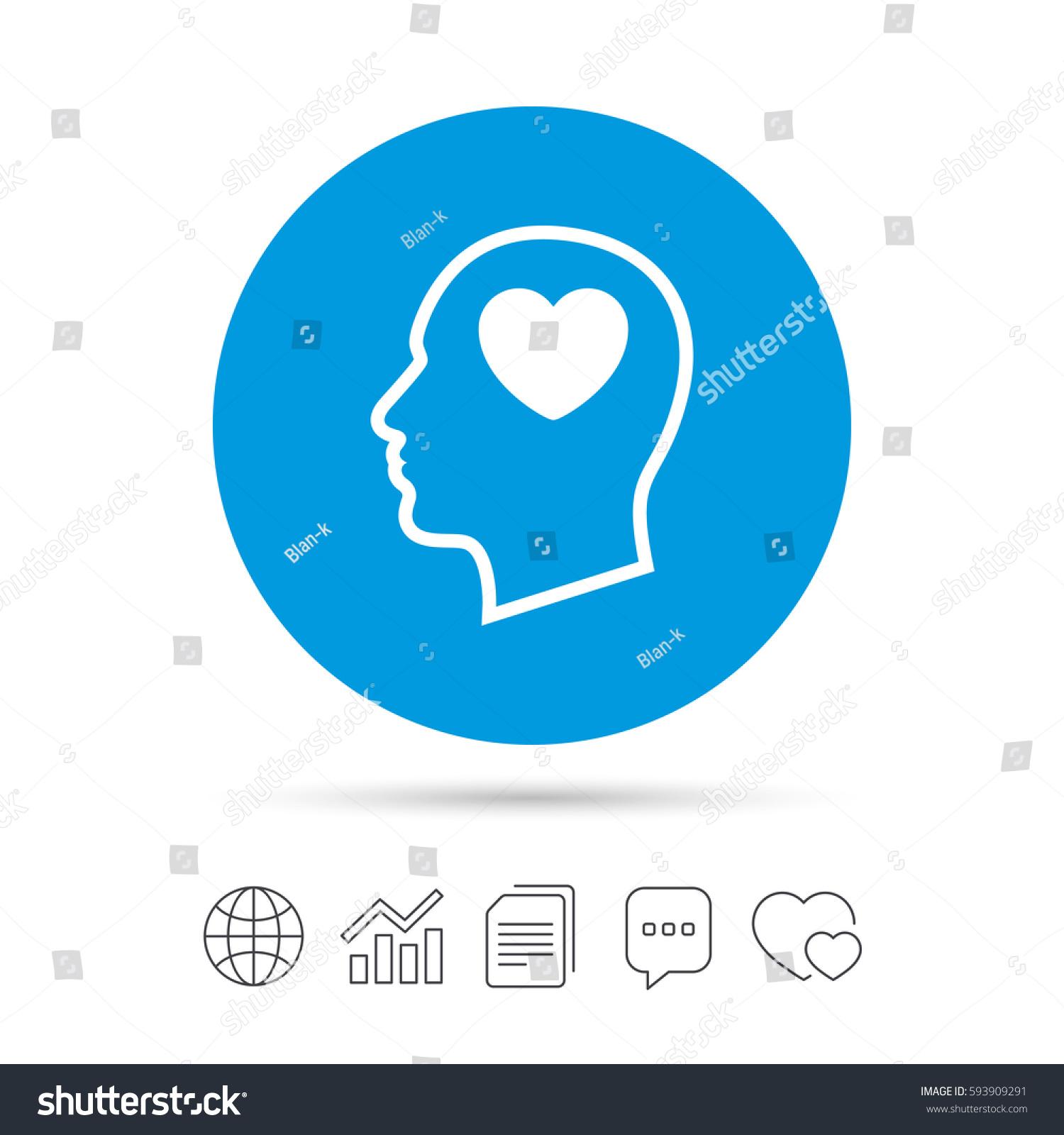 Head heart sign icon male human stock vector 593909291 shutterstock male human head in love symbol copy files buycottarizona