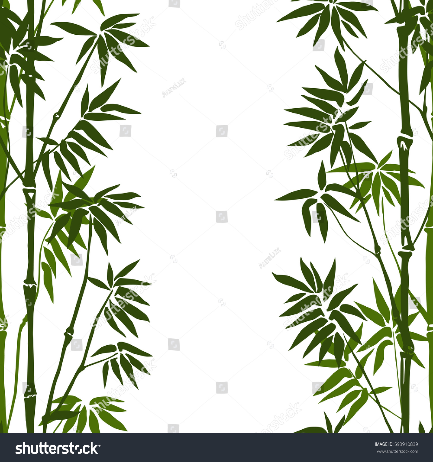 Green bamboo seamless vertical pattern on green bamboo seamless vertical pattern on white background tropical wallpaper nature textile print voltagebd Images
