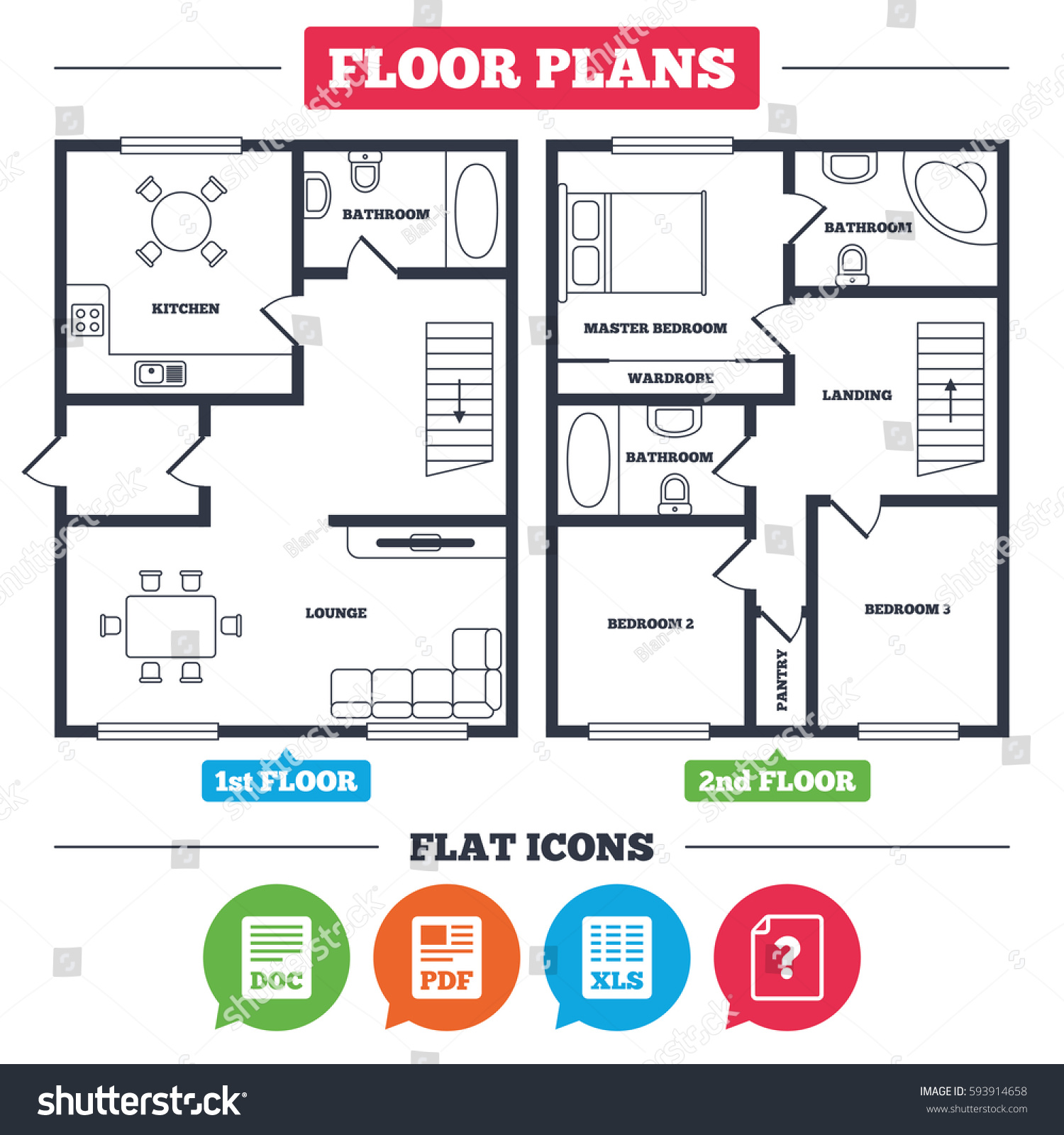 Architecture plan furniture house floor plan stock vector architecture plan with furniture house floor plan file document and question icons xls buycottarizona Images