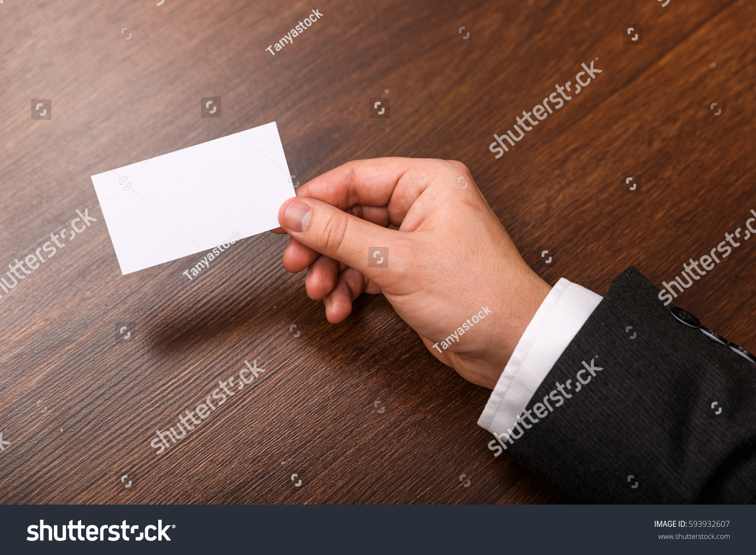 Hand Hold Blank Business Card Design Stock Photo (Royalty Free ...