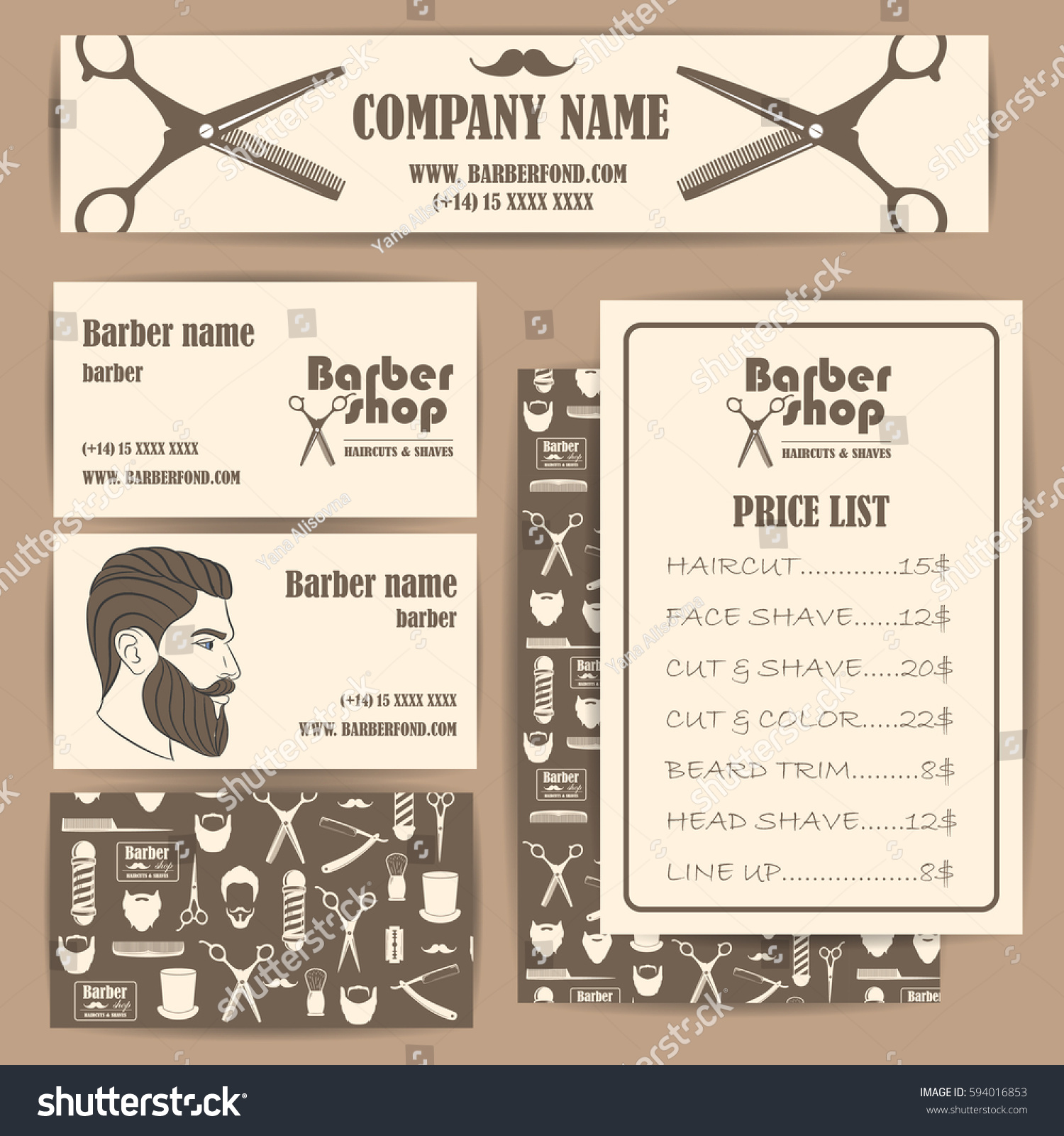 Comfortable Barber Shop Business Card Templates Ideas - Business ...