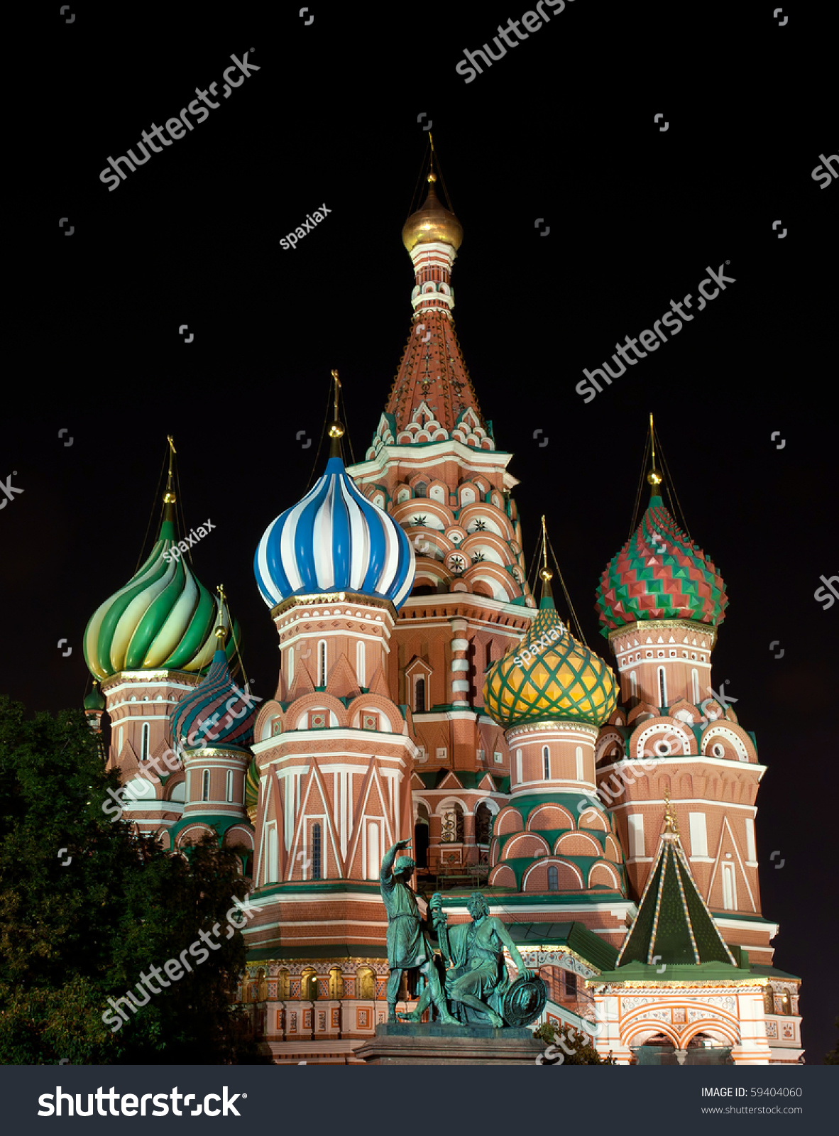 St Basils Cathedral Moscow Night Stock Photo 59404060 - Shutterstock