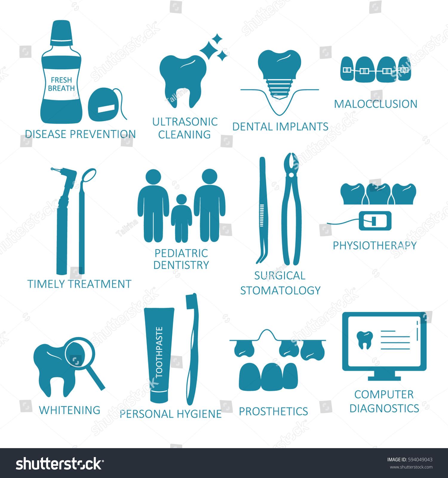 Poster design medical - Medical Illustration With Set Of Dental Symbols Poster Design Or Backdrop Teeth And Dental