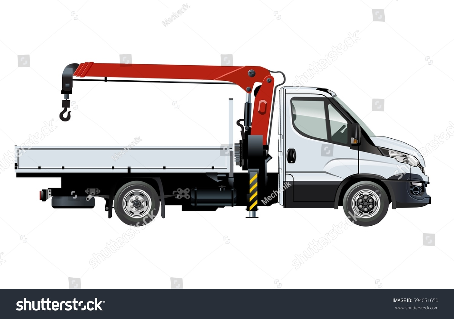 vector crane truck template isolated on white available eps10 separated by groups and