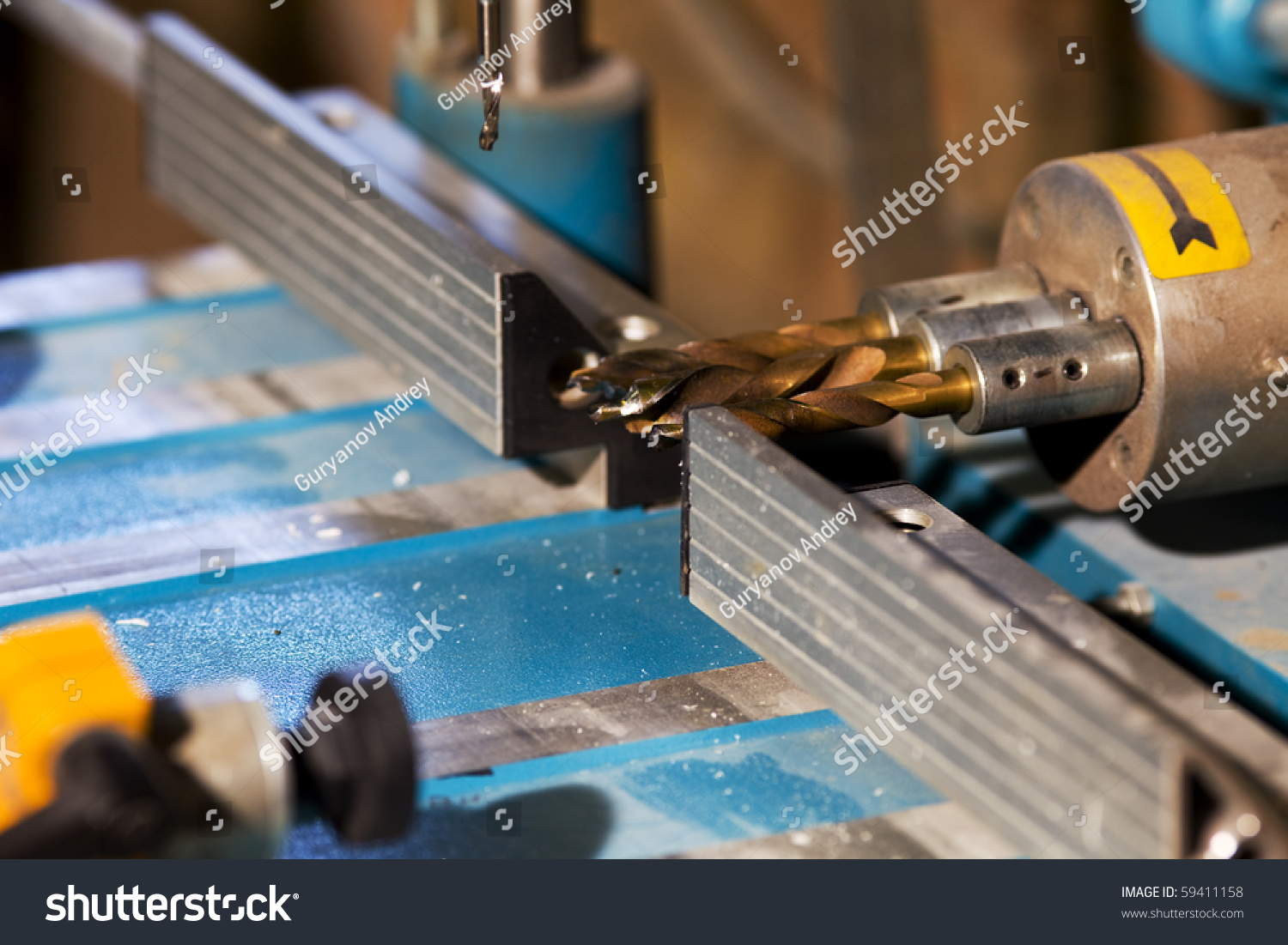 Drill Hole Plastic Window Manufacture Stock Photo 59411158 ...