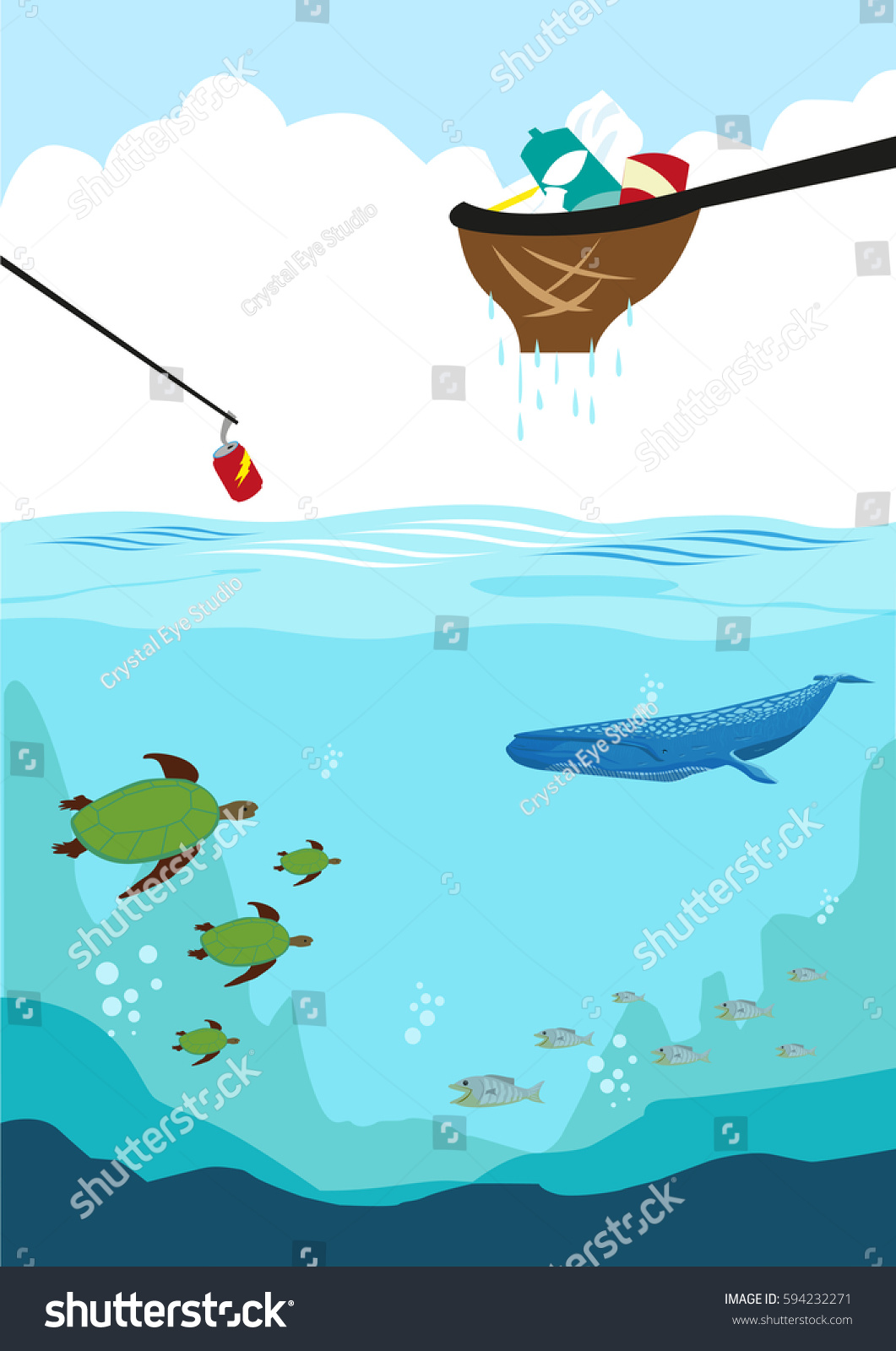 cleaning ocean by collecting different forms stock vector 594232271 rh shutterstock com sea clipart images sea clipart pictures