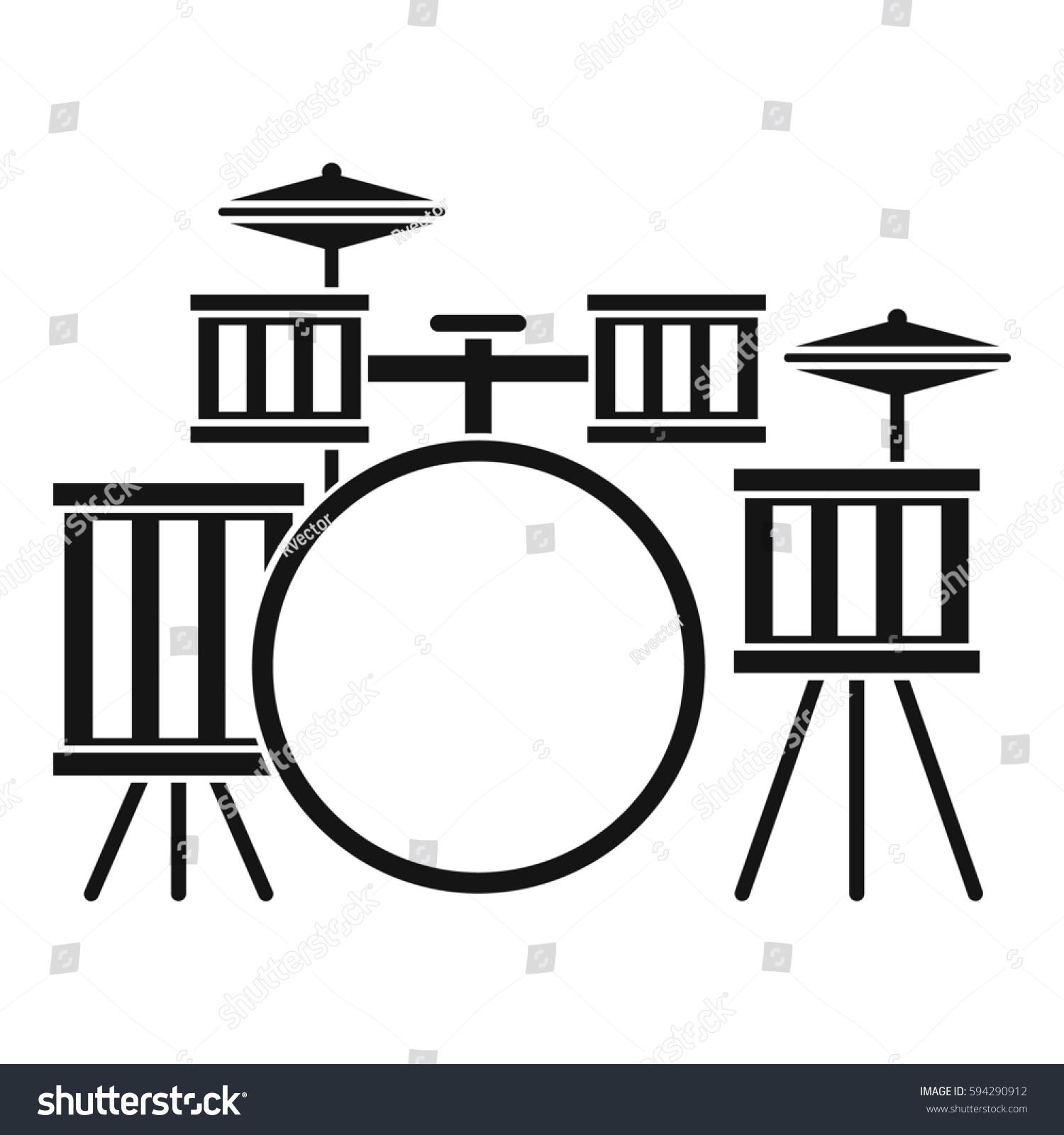 White Simple Drum Drawing Www Tollebild Com