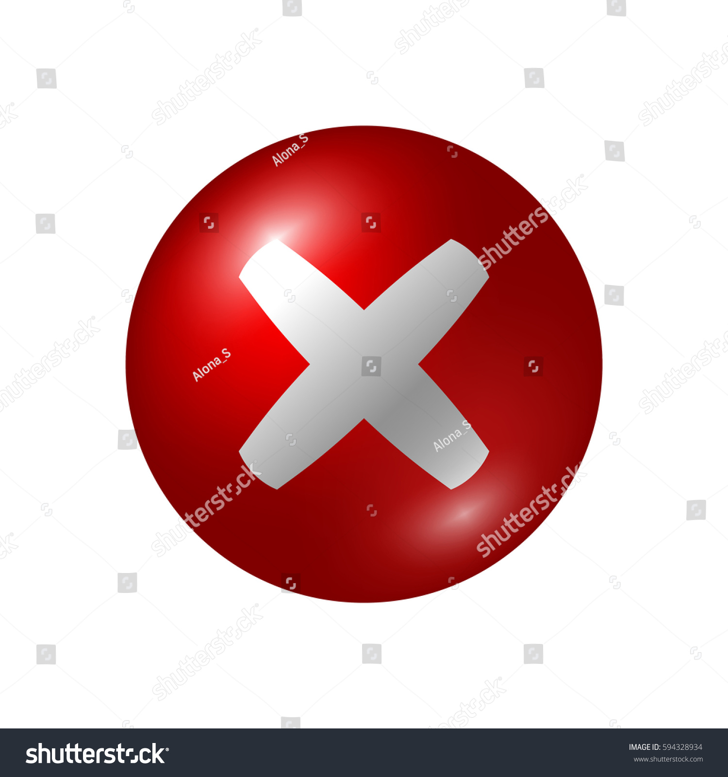 Red X Icon Vector