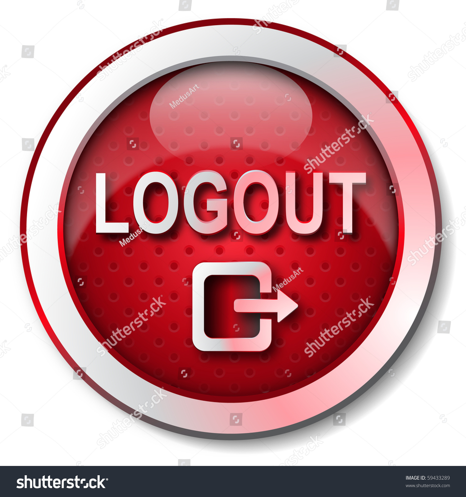 Logout Icon Stock Illustration 59433289 - Shutterstock
