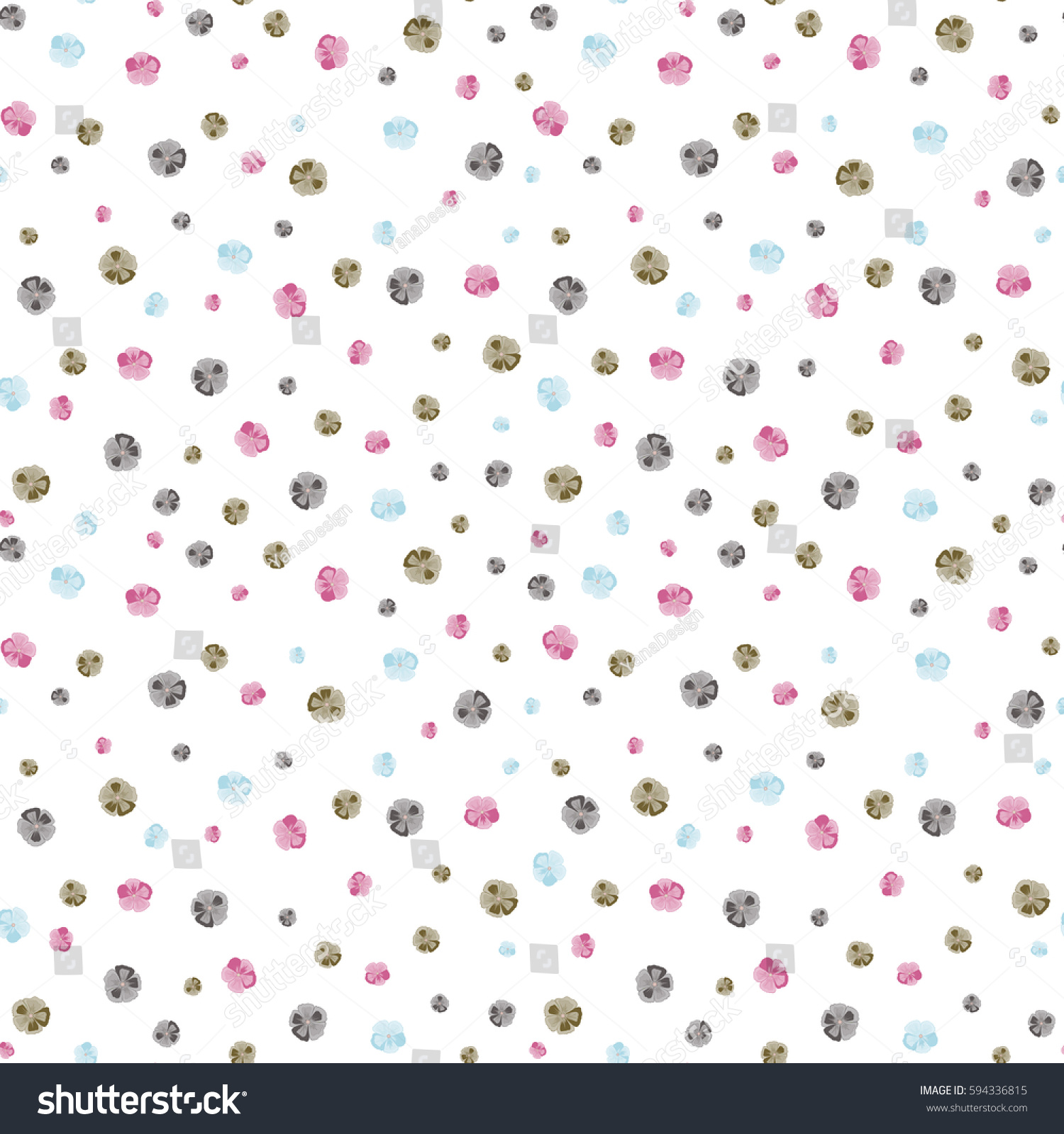 vector pretty ditsy flower print seamless stock vector
