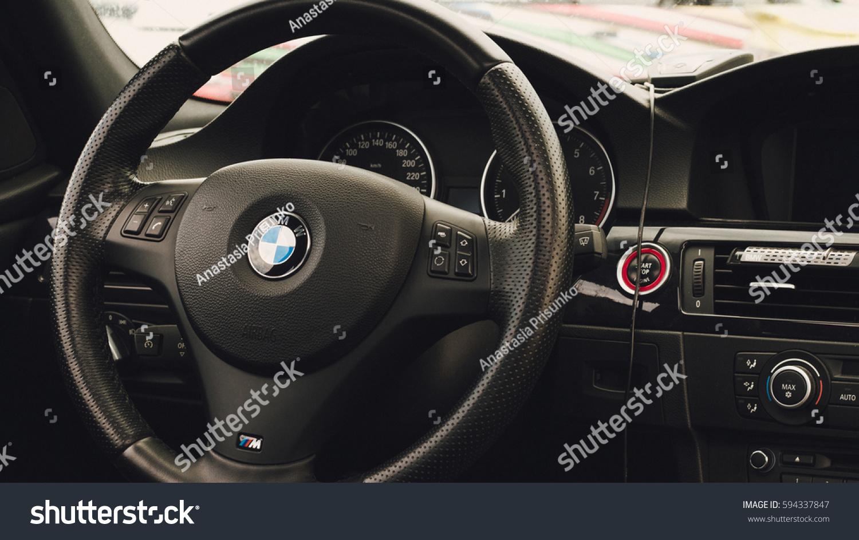 Interior Bmw 1 Series Steering Wheel Stock Photo Edit Now 594337847