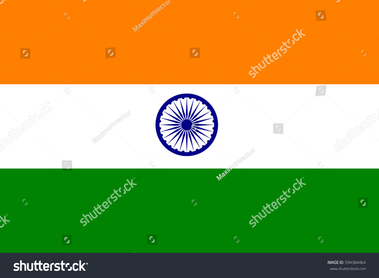 India Flag Colors: India Flag Official Colors Proportion Correctly Stock