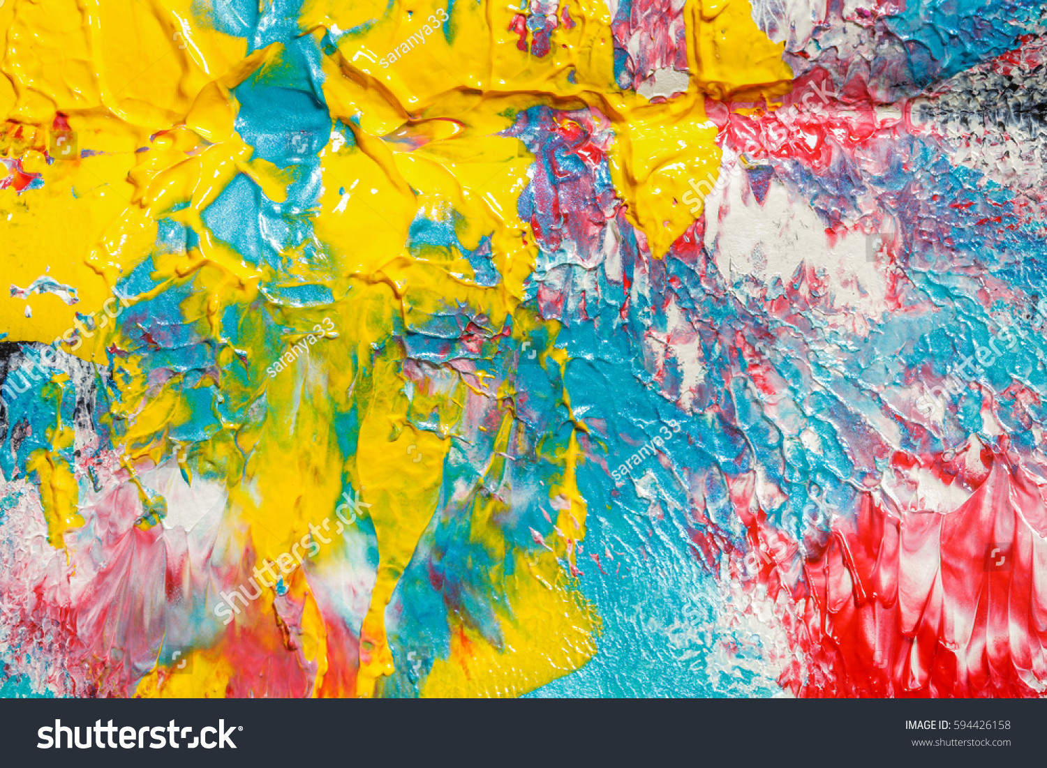 Mixing Merging Single Colors Spread Painting Stock Photo (Edit Now ...