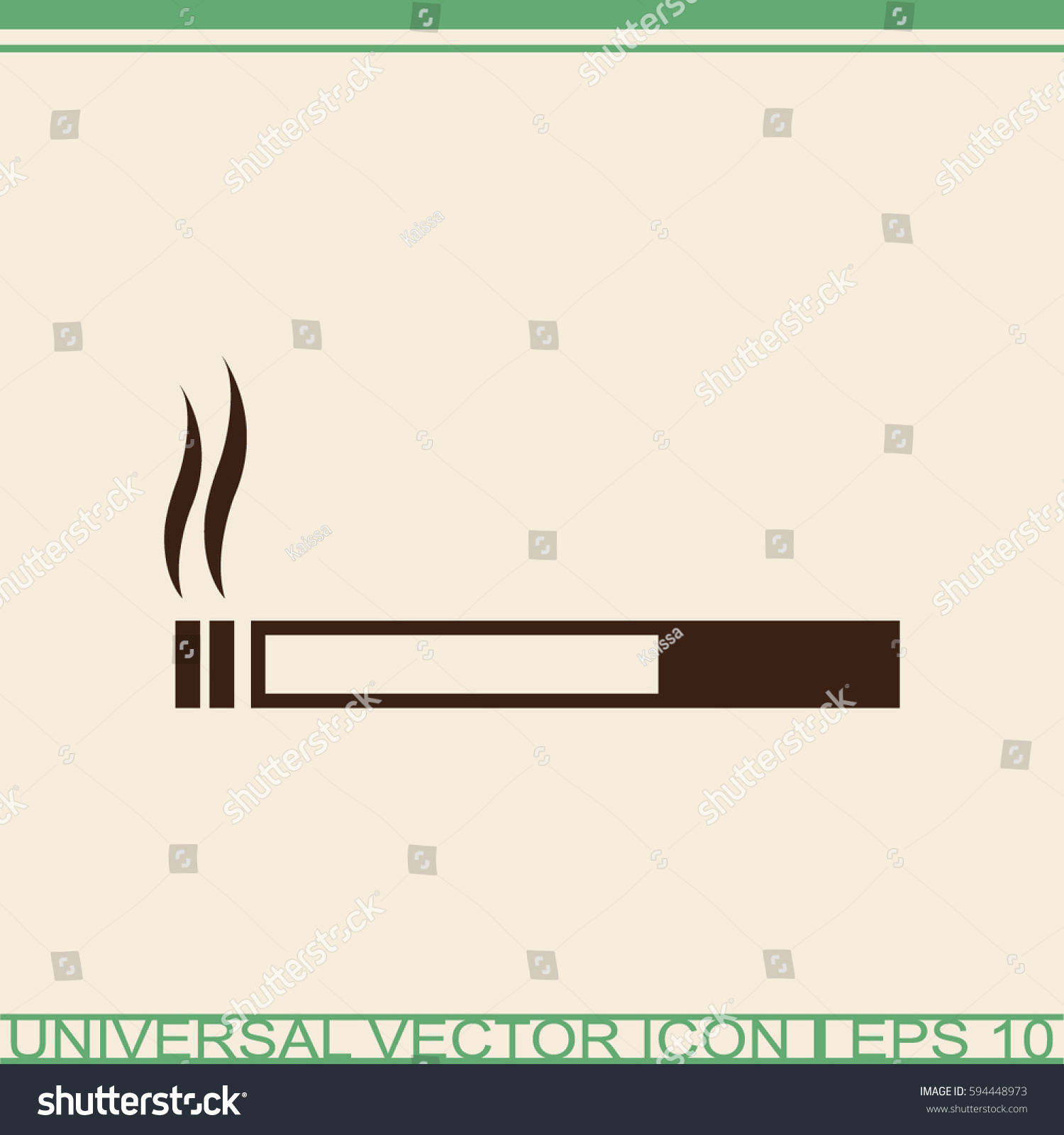 Cigarette vector icon smoking symbol stock vector 594448973 smoking symbol buycottarizona Images