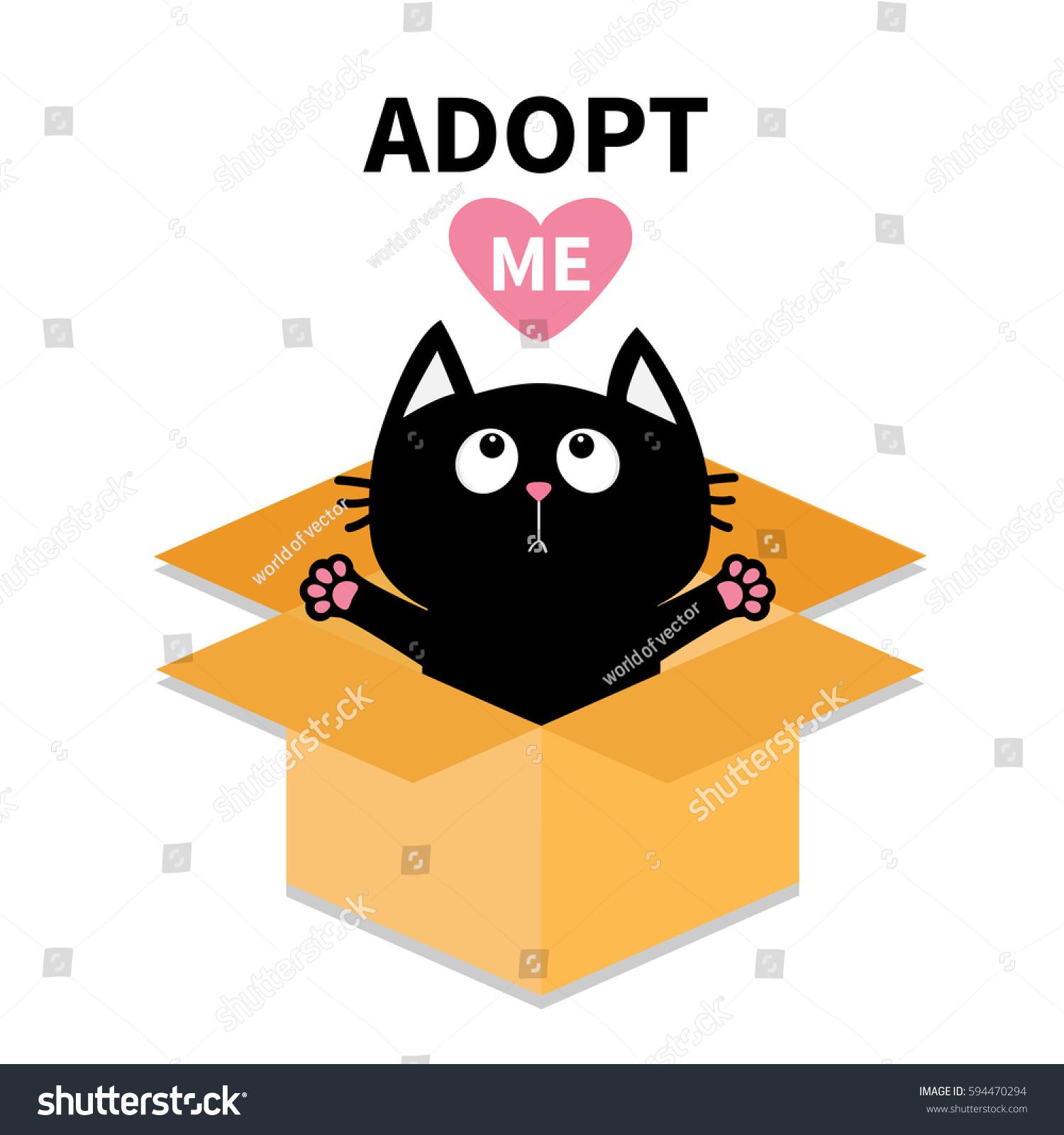 Adopt Me Dont Buy Cat Inside Stock Vector Shutterstock