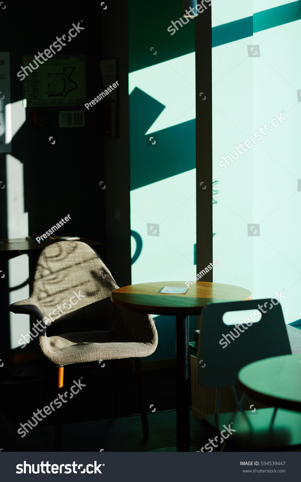 Image Empty Seating Area Cafe Table Stock Photo Royalty Free - Standing cafe table